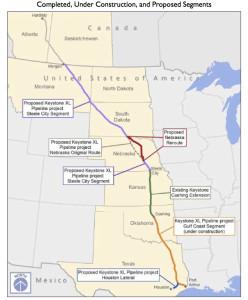 Keystone XL Pipeline Route