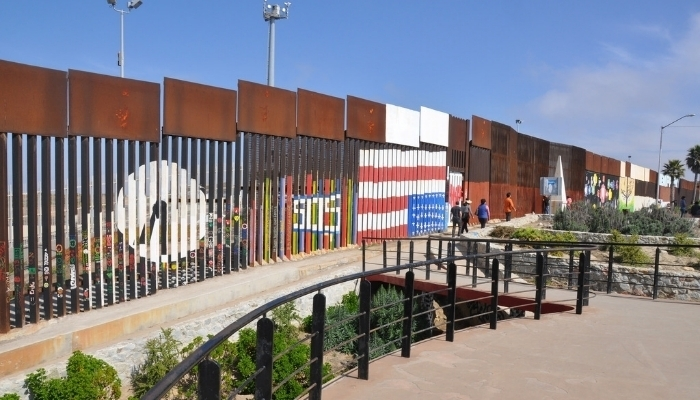 Friendship Park Fence on US Mexico Border